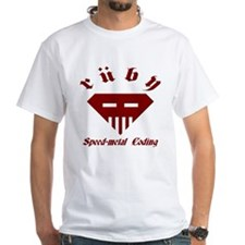 Speed-metal Coding White T-Shirt