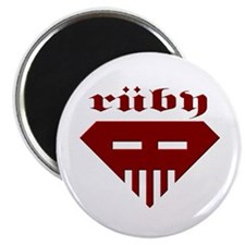 "Speed-metal Ruby 2.25"" Magnet (100 pack)"