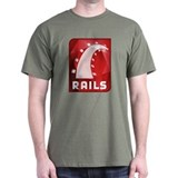 Ruby on Rails Black T-Shirt