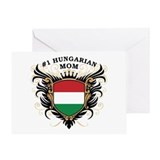 Number One Hungarian Mom Greeting Card