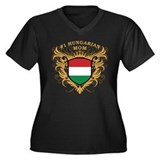 Number One Hungarian Mom Women's Plus Size V-Neck