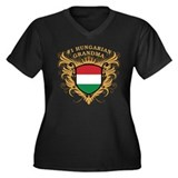Number One Hungarian Grandma Women's Plus Size V-N