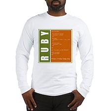 Use Ruby, be happy! Long Sleeve T-Shirt