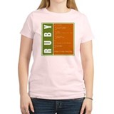 Use Ruby, be happy! Women's Pink T-Shirt