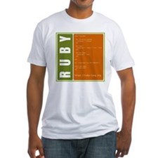 Use Ruby, be happy! Fitted T-Shirt