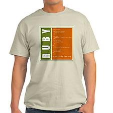 Use Ruby, be happy! Ash Grey T-Shirt