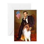 Lincoln / Collie Greeting Card