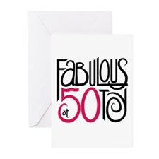 Fabulous at 50! Greeting Cards (Pk of 10)