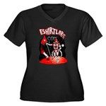 eShirtLabs Spaceman Women's Plus Size V-Neck Dark