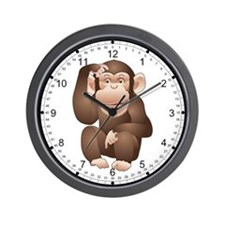 Curious Monkey Wall Clock