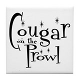 Cougar On The Prowl Tile Coaster