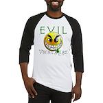 Evil Vegetarian Smiley Baseball Jersey