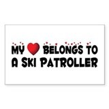 Belongs To A Ski Patroller Rectangle Decal