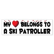 Belongs To A Ski Patroller Bumper Bumper Sticker
