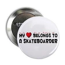 """Belongs To A Skateboarder 2.25"""" Button (100 p"""