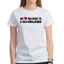 Belongs To A Skateboarder Tee