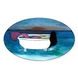 Bathtub Mermaid Oval Decal