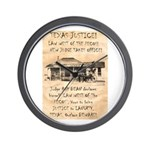 Judge Roy Bean Wall Clock