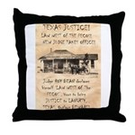 Judge Roy Bean Throw Pillow