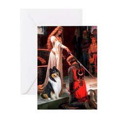 Accolade / Collie (tri) Greeting Card