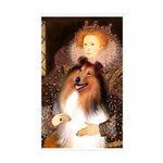 Queen / Collie (tri) Sticker (Rectangle)