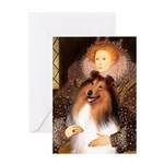 Queen / Collie (tri) Greeting Card