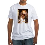 Queen / Collie (tri) Fitted T-Shirt