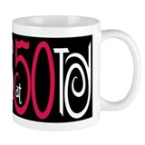 Fabulous at 50 Black Coffee Mug
