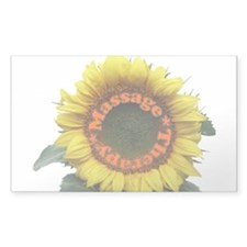Massage Sun Flower Rectangle Decal