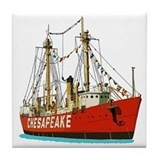 The Lightship Chesapeake Tile Coaster