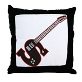 Electric Guitar S Custom Initial Throw Pillow