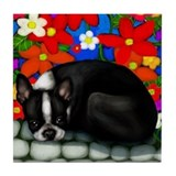 BOSTON TERRIER DOG Tile Coaster
