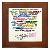 cheer words Framed Tile