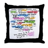 cheer words Throw Pillow