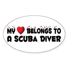 Belongs To A Scuba Diver Oval Decal