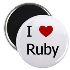 """I Love Ruby"" 2.25"" Magnet (10 pack)"