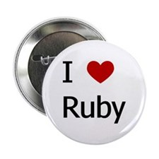 """I Love Ruby"" Button"