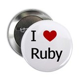"""I Love Ruby"" 2.25"" Button (10 pack)"
