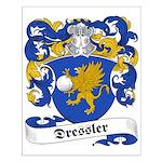 Dressler Family Crest Small Poster