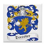 Dressler Family Crest Tile Coaster