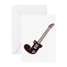 Electric Guitar J Custom Initial Greeting Card
