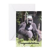 Gorilla Graduation Greeting Card