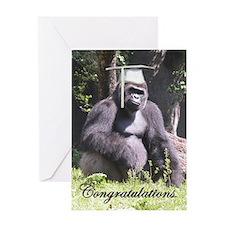 Gorilla Graduation Greeting Card