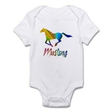 Colorful Galloping Mustang Infant Bodysuit