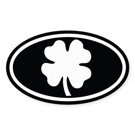 Shamrock Oval Oval Sticker