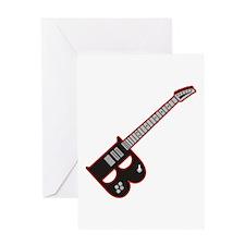 Electric Guitar B Custom initial Greeting Card