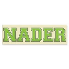 Nader 08 Bumper Car Sticker