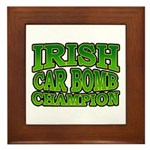 Irish Car Bomb Champion Shamrock Framed Tile