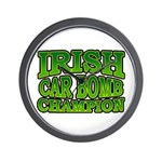 Irish Car Bomb Champion Shamrock Wall Clock
