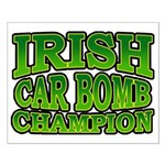 Irish Car Bomb Champion Shamrock Small Poster